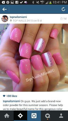 Pink striped solar manicure #solarpowder #colorpowder #notpolish