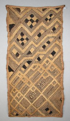 African Kuba Cloth, Raffia, early 20th century?, I bought this in 1987 for $350 and it was old then. The dealer told me that it was early 20th century. ...