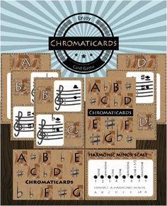 Chromaticards is a fun educational game where players must build musical scales as fast as possible.There are two decks of cards. Some cards will show the scales that players must build and the other cards contain the musical notes. This challenging game will help students understand and build most commonly used musical scales in Western music (Major, Natural Minor, Harmonic Minor, Chromatic and Whole Tone)Chromaticards is for for any number of players of 2 or more, but best in small…