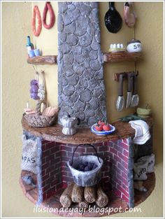 Tile Crafts, Clay Crafts, Stone Houses, Clay Art, Art Boards, Polymer Clay, Pottery, Ceramics, Fairy Homes