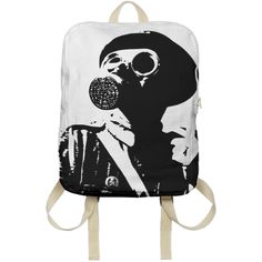 Shop GAS MASK 5 Backpack by THE GRIFFIN PASSANT STREETWEAR STREETWEAR | Print All Over Me