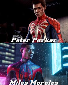 #ps4spiderman #ps5spiderman #milesmorales #peterparker Spiderman Home, Miles Spiderman, Spiderman Cosplay, Spiderman Marvel, Marvel Avengers, Spiderman Spider, Batman, Iron Spider Suit, Iron Man Poster