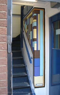 Stairway mural at the rlab Hackspace, Reading Stairways, Reading 2014, 10 Years, Murals, Home Decor, Art, Stairs, Art Background, Staircases