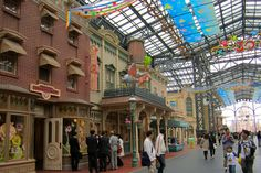 Main Street is covered by glass at Tokyo Disneyland, allowing visitors to enjoy the magic even during bad weather.