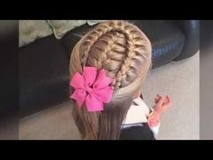 French braid with a lace braid wrap tutorial by Two Little Girls Hairstyles - YouTube