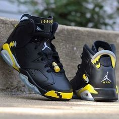 Basketball Discover Air Jordan 6 Retro Batman Black and Yellow Batman Jordans, Batman Shoes, Air Jordans, Jordan Shoes Girls, Girls Shoes, Michael Jordan Shoes, Zapatillas Jordan Retro, Sneakers Fashion, Shoes Sneakers