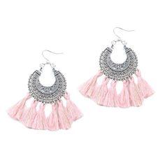 Fashion Femmes Bohême Frange court Tassel Ear Stud Drop Dangle Vintage Boucles D/'oreilles