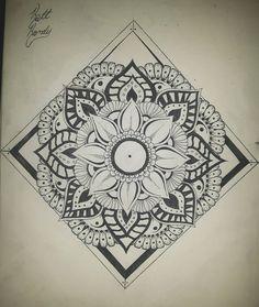 "Katt Kandy (@kattkandyofficial) on Instagram: ""First ever mandala drawing. . . Drawn with @sakuramarkers . . . #sakuracolor #pigmapen #mandalas…"""