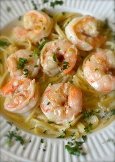 Shells Shrimp and Garlic Pasta - so easy to make.