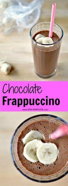 Chocolate Frappuccino   WIN-WINFOOD.com #healthy #vegan #glutenfree #cleaneating #paleo
