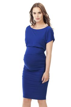 Isabella Oliver Eliot Maternity Dress Persian Blue   Maternity Clothes Maternity Dresses