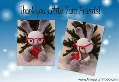 Bunny and Bible free crochet pattern by little Yarn Friends (crocheted by Amigurumi To Go)