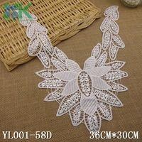 Lace collar 2PCS/lot Neckline Creamy-white Flower Lady Venise Lace Applique Trim, lace fabric sewing supplies Sewing Accessorie