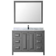 Check Prices Daria 48 Single Bathroom Vanity Set with Mirror By Wyndham Collection Home Depot Bathroom Vanity, Single Bathroom Vanity, Small Bathroom, Master Bathroom, Vanity Set With Mirror, Wall Mounted Vanity, Bath Store, Bathroom Ensembles, Square Sink