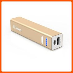 Jackery Mini Premium 3350mAh Portable Charger - External Battery Pack, Power Bank, & Portable iPhone Charger for Apple iPhone SE, Apple iPhone 6s, 6s Plus, 6, 5, iPad Pro, iPad Mini, Samsung Galaxy S7, Samsung Galaxy S6, and S5 (Gold) - Best gadgets (*Amazon Partner-Link)