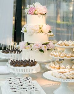 dessert table...the cake is the closest to what I would like that I can find so far!