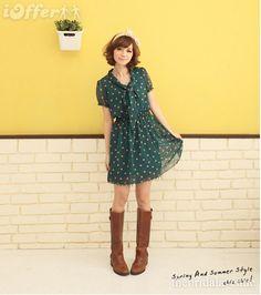 Spotted Chiffon Dress - $17.49 (iOffer)