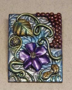 Approx. ATC sized mosaic tile, just messing around with my poly clay.