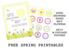 Creative Juice: {FREE PRINTABLES} april showers bring may flowers... and printables.