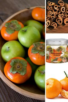 Persimmon Cider - Splashes of sweet mandarin and juicy persimmon are blended with classic apple and a hint of cinnamon bark for a classic fall moment
