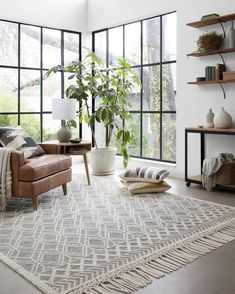 living room rugs size rug for living room room layouts room curtains living room furniture living room barn living room room wallpaper Design Living Room, Rugs In Living Room, Home And Living, Living Spaces, Dark Floor Living Room, Small Living, Cozy Living, Living Room Decor With White Walls, Plants In Living Room