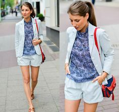 Get this look: http://lb.nu/look/8250649  More looks by Stephanie Van Klev: http://lb.nu/vejadu  Items in this look:  Athé Vanessa Bruno Blazer, Athé Vanessa Bruno Shorts, Athé Vanessa Bruno Suit, Athé Vanessa Bruno Blouse, Vanessa Bruno Bag, Hermès Sandals   #casual #chic #street #outfit #suit #blazer #shorts #floral #tunic