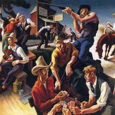 Thomas Hart Benton was an American Regionalist painter and muralist active in the 1920's, 30's, and 40's. Learn more about the Regionalism movement and Benton's famous murals.