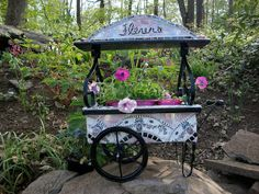 Mosaic Flower cart After by ree-creation-mosaics, via Flickr