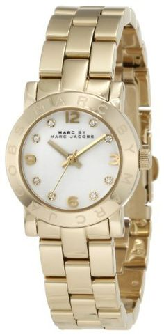 Marc by Marc Jacobs Women's MBM3057 Amy Gold Watch Marc by Marc Jacobs. $179.98. Deployant closure. Stainless steel. Durable mineral crystal protects watch from scratches,. Water Resistance: 3 ATM. 3 hand