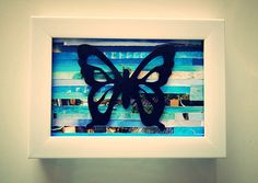 Recycled magazine art:  Monarch butterfly on by ThePaperGirl14