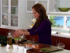 ▶ Shrimp and Arugula Bruschetta-Food Network - YouTube