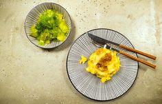 Handgeschabte Käsespätzle und Gurkensalat   Gaumenschrei