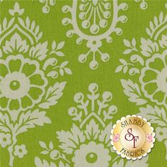 Up Parasol PWHB046-GREEN Green Lulu By Heather Bailey For Free Spirit Fabrics