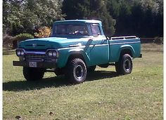 My fathers 1960 Ford truck, short wheelbase modifed to 4WD with the help of a old delapidated 1960 power co. LWB truck