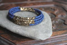 Kalimantan+Stacking+Memory+Wire+Bangle+by+handmadebyannepotter,+$32.00