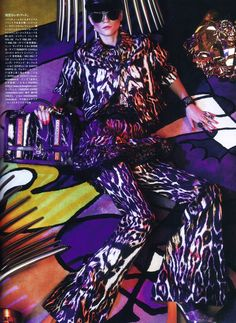 Stunning photo from the November Issue of Vogue Japan featuring Kasia Struss in Roberto Cavalli