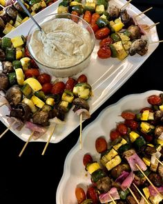 There's never a dull day at Rosa's Catering. Especially if you have our Vegetable Skewers with Hummus!! #RosasCatering