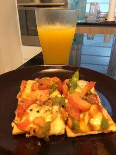 Cohen Pizza with mango juice #cohenlifestyle #lynskitchen