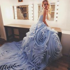 Love this couture #beautifullovewedding gown called Petals,