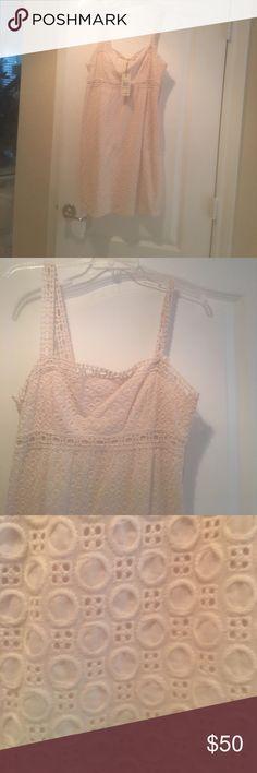 Brand new 100% cottton cream color summer dress. Cream color 100% cotton summer dress. Brand new with tags. Studio M Dresses Midi