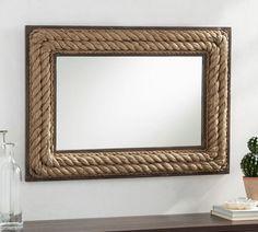 Rectangular Jute Mirror