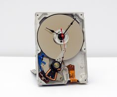 Recycled Computer Hard Drive Clock by pixelthis on Etsy