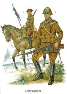 Esercito Polacco - - 1 Cavalry Trooper, 18th , 1939 - 2 Corporal, 12th Lancers, 1939