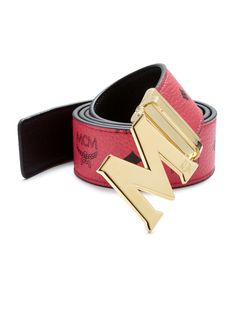 MCM Red Claus Reversible Belt for men Mcm Belt, Reversible Belt, Mens Fashion, Men's Belts, Polyvore, Red, Stuff To Buy, Shopping, Men's Accessories