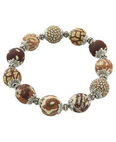 beaded stretch bracelets | Millefiori Jewelry | Handmade Beaded Jewelry | Beaded Stretch Bracelet