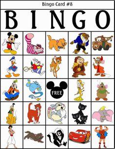 Bingo de Personajes Disney, para Imprimir Gratis.