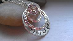 I love you sterling silver bling ring necklace by thecharmedwife, $63.00