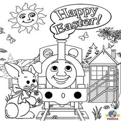 Printable Thomas The Train Easter Coloring Pages See the category to find more printable coloring sheets. Also, you could use the search box to find w. Easter Coloring Pages Printable, Easter Worksheets, Free Christmas Coloring Pages, Train Coloring Pages, Valentines Day Coloring Page, Coloring Pages For Boys, Mandala Coloring Pages, Free Coloring Pages, Coloring Books