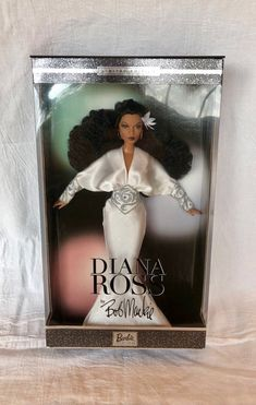 2003 Diana Ross by Bob Mackie barbie doll - Limited Edition by Barbie Collectibles. - from the Bob Mackie designer collectors edition. Barbie 2000, Barbie Dolls, Barbie Collector, The Collector, Barbies For Sale, Bob Mackie, Black Barbie, Diana Ross, See Picture