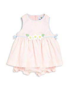 Florence Eiseman - Baby's Two-Piece Flower Dress & Bloomers Set